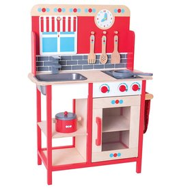 Bigjigs Toys Wooden Role Play Pretend Kitchen