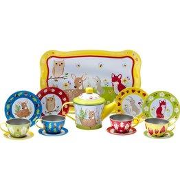 Schylling Forest Friends Tin Tea Time Set