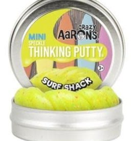 "Crazy Aaron Surf Shack Sparkle 2"" Tin Bright yellow putty with red, blue, green"