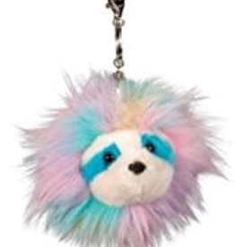Douglas Rainbow Sloth Fur Fuzzle Pom Clip