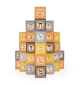 Uncle Goose Hebrew Alphabet Blocks