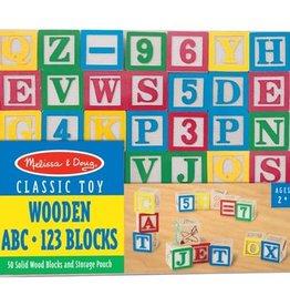 Melissa & Doug Wooden ABC/123 Blocks (UC)