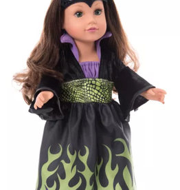 Little Adventures Doll Dress Dragon Queen with Soft Crown