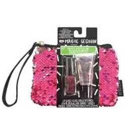 Fashion Angels Magic Sequin Beauty Wristlet-Pink/Silver