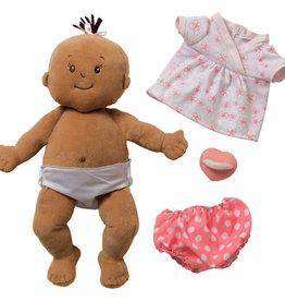 """Manhattan Toy 12"""" Baby Stella Doll Beige with Brown Hair"""