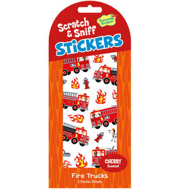 Peaceable Kingdom SCRATCH & SNIFF: CHERRY FIRE TRUCKS STICKERS