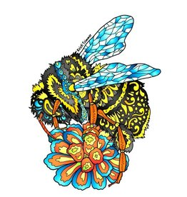 Alaska Wild and Free Bumble Bee Sticker