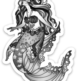 Alaska Wild and Free Mermaid Sticker