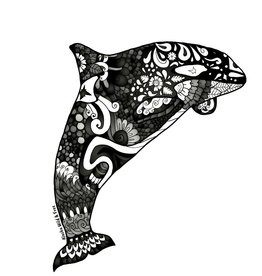 Alaska Wild and Free Orca Sticker