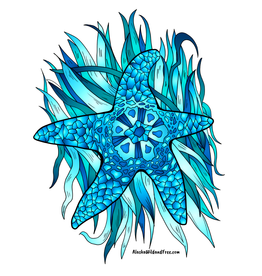 Alaska Wild and Free Starfish Blue