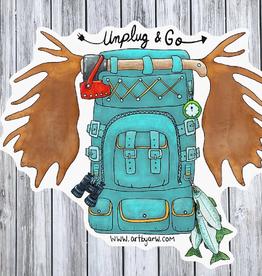 Amanda Rose Warren Sticker Unplug and Go Backpack