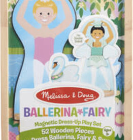 Melissa & Doug Ballerina/ Fairy Magnetic Dress-Up Play Set
