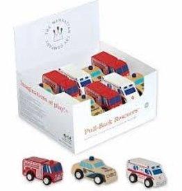Manhattan Toy Pull-Back Rescuer Fire Truck