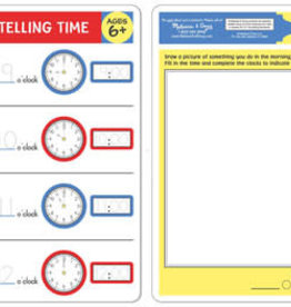 Melissa & Doug Telling Time Write-a-Mat