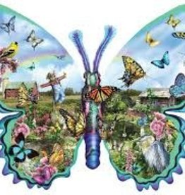 SunsOut 1000 pc Butterfly Farm - shape