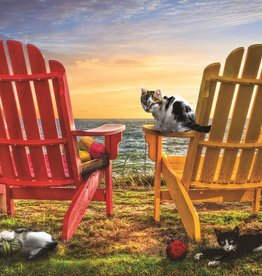 SunsOut 1000 pc Cat Nap at the Beach