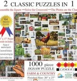 SunsOut 1000 pc Farm & Country: 2 Classic Puzzles in 1