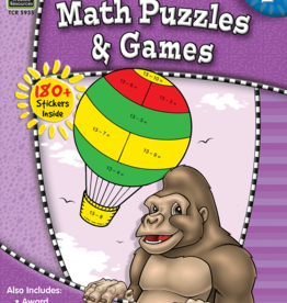 TCR Math Puzzles and Games Grade 2