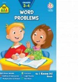 School Zone Word Problems Grade 3-4