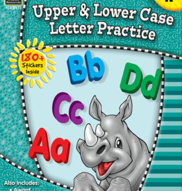 TCR Upper and Lower Case Letter Practice Grade K