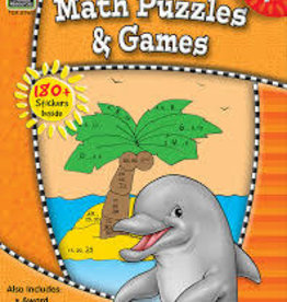 TCR Math Puzzles and Games Grade 1