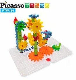 PicassoTile 184pc Wheel/Gear Block Set