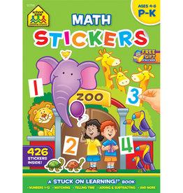 School Zone Math Readiness  Stickers grade Preschool-K