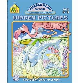 School Zone Puzzle Play Hidden Pictures grade1-2