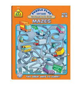 School Zone Puzzle Play Mazes grade 1-2