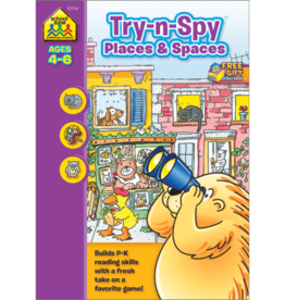 School Zone Try-n-Spy Places and Spaces kindergarten