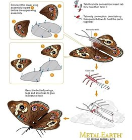 Metal Earth Buckeye-Butterfly - COLOR