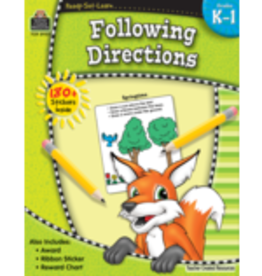 TCR Follow Directions grades  Kindergarten- 1