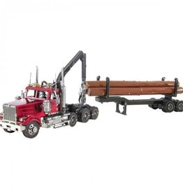Metal Earth Western Star 4900 Log Truck & Trailer - COLOR