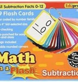 Edu Press Flash Cards Subtraction