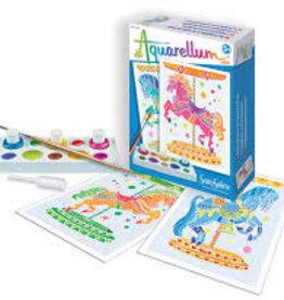 Aquarellum Carousel Horses Mini