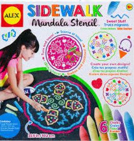 Slinky Poof sidewalk mandala stencil
