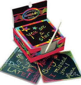 Melissa & Doug Rainbow Mini Scratch Art Notes (Box of 125)