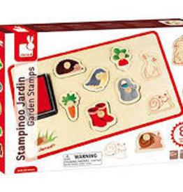Janod Stamp Puzzle - Garden