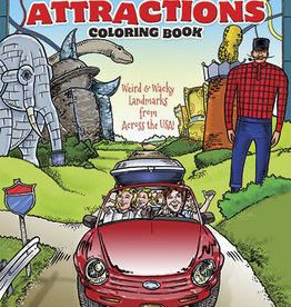 Dover Publications Roadside Attractions Coloring Book: Weird and Wacky Landmarks from Across the USA!