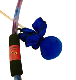 Two Bros Bows Blue Tie Dye Bow, 2 Arrows and Small Bullseye
