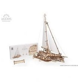 UGEARS Trimaran Merihobu Mechanical Wooden Model Kit