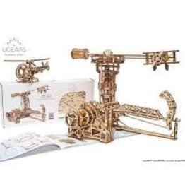 UGEARS Aviator Mechanical Wooden Model Kit
