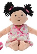 Manhattan Toy Baby Stella Doll Peach with Black Pigtails