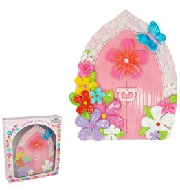 Pink Poppy Floral Fairy Door