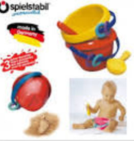 Haba Baby Bucket with scoop Red bucket with yellow scoop