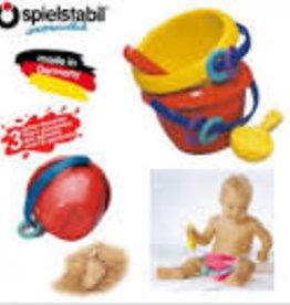 Haba Baby Bucket with Scoop Red bucket with Yellow Scoop