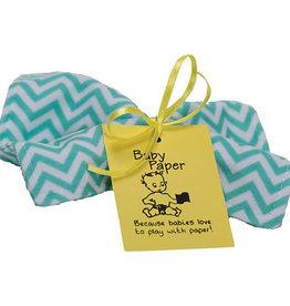Baby Paper Baby Paper Turquoise Zig Zag