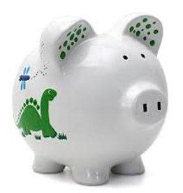 Child to Cherish Dinosaur Piggy Bank