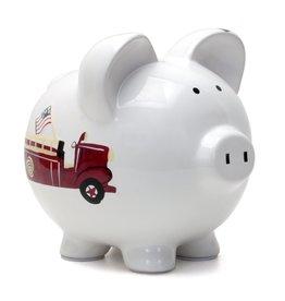 Child to Cherish Fire Truck Piggy Bank