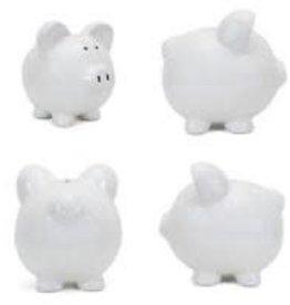 Child to Cherish White Large Piggy Bank